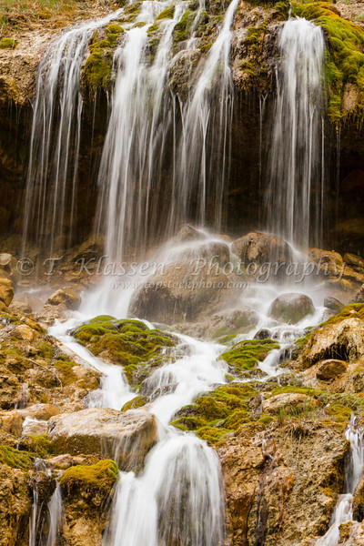 A small roadside waterfall on the Trans Canada Highway near Field, British Columbia, Canada.