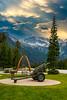 The Rogers Pass memorial summit monument, British Columbia, Canada.