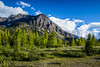 A view of Castle Mountain from Kootenay National Park, British Columbia, Canada.