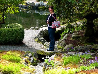 Becca in the Japanese Garden