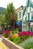 Downtown street in Revelstoke, British Columbia, Canada.