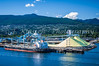 The shipping port in the harbour at Vancouver, British Columbia, Canada.