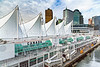 The cruise ship terminal Canada Place and port of Vancouver, British Columbia, Canada.