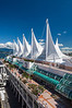 The cruise ship port at Vancouver, British Columbia, Canada.