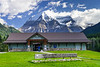 The Mount Robson visitors center in Mount Robson Provincial Park, British Columbia, Canada.