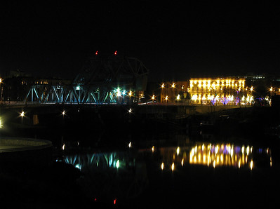 Johnson Street Bridge and Swans