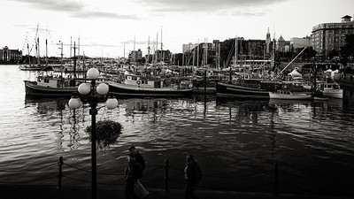Dusk at Victoria's Inner Harbour