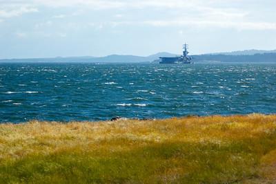 Visiting Macaulay Point to see the USS Nimitz