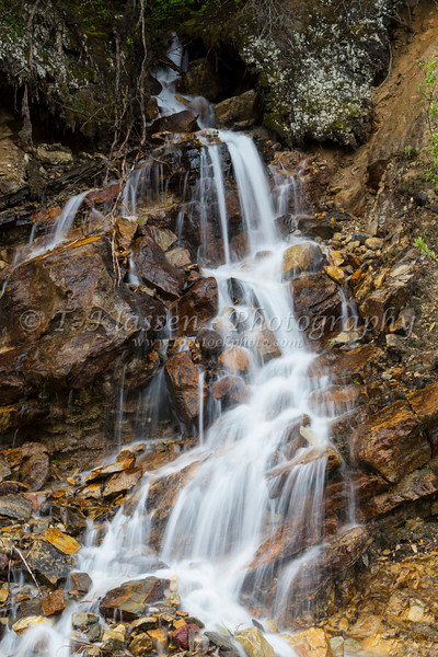 Small roadside waterfalls in Yoho National Park, British Columbia, Canada.