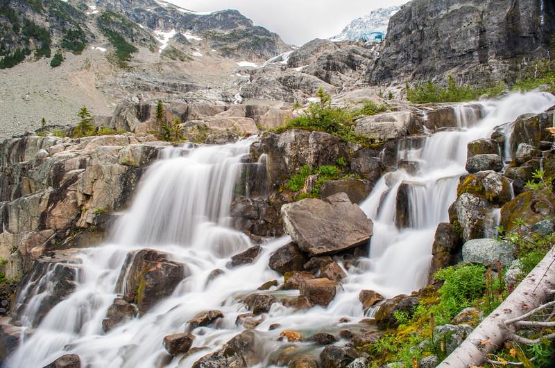 Waterfalls at Joffre Lakes
