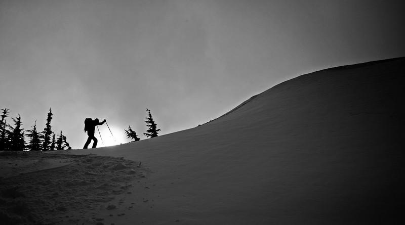 Snowshoe silhouette