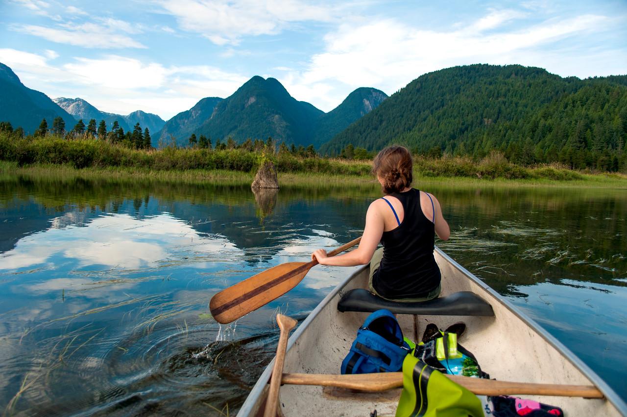 Canoeing in Pitt Lake