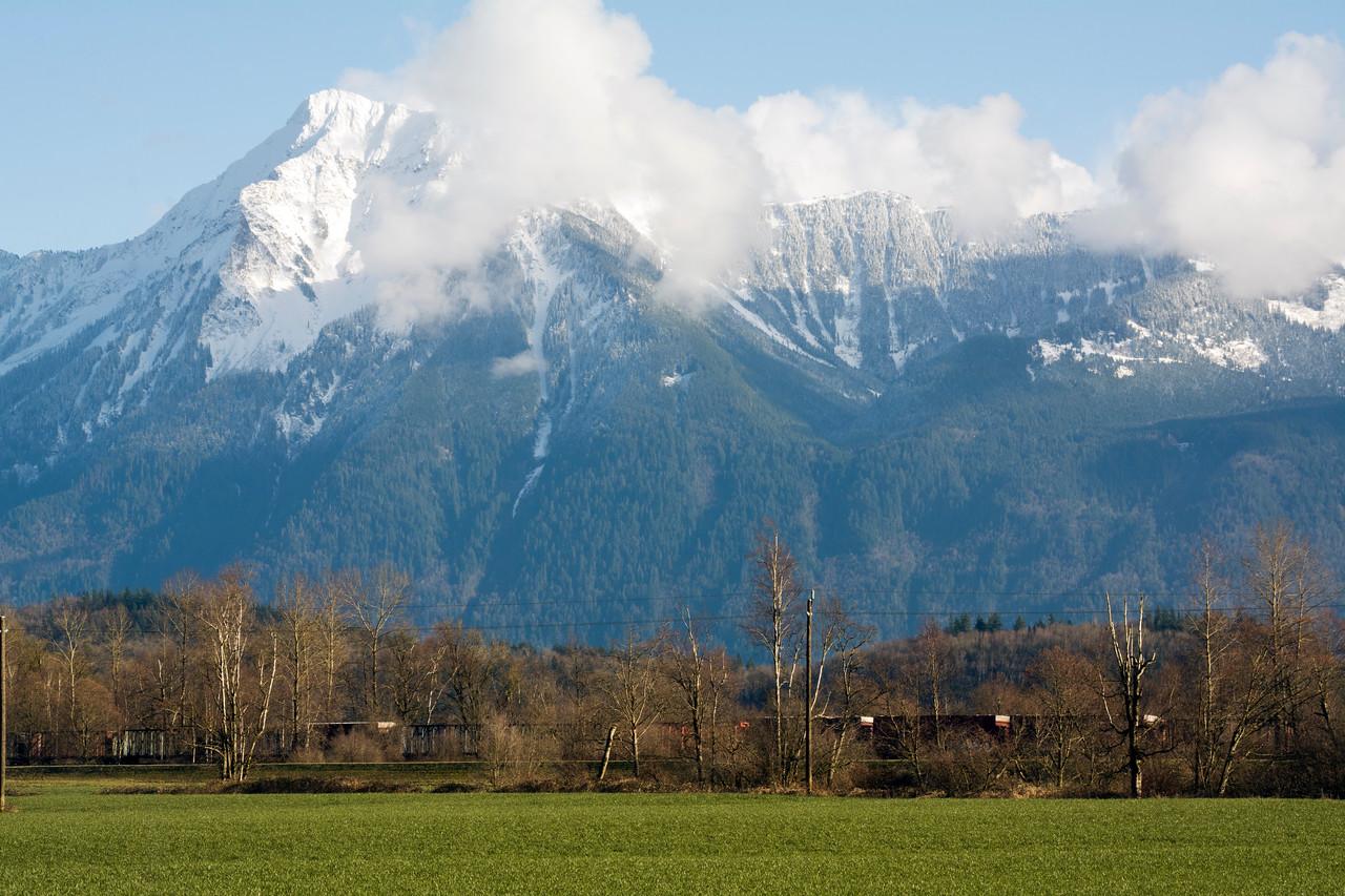 Mountain overlooking the valley