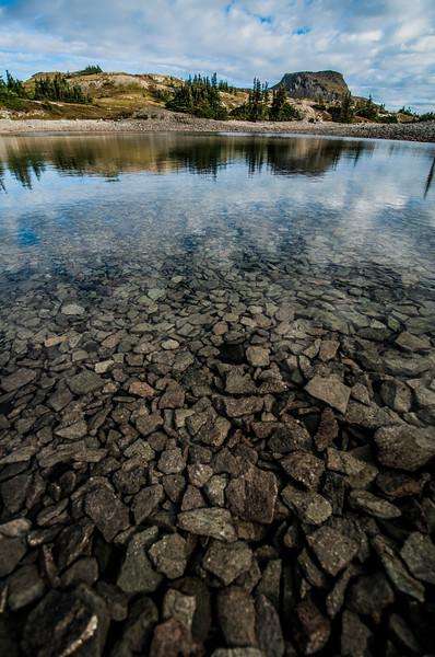 Clear alpine lake