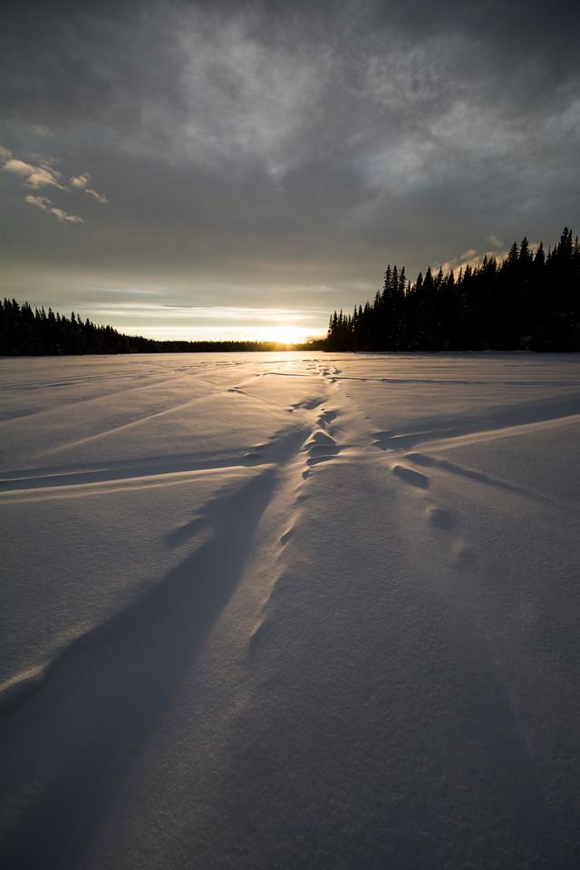 Snow covered Paska Lake