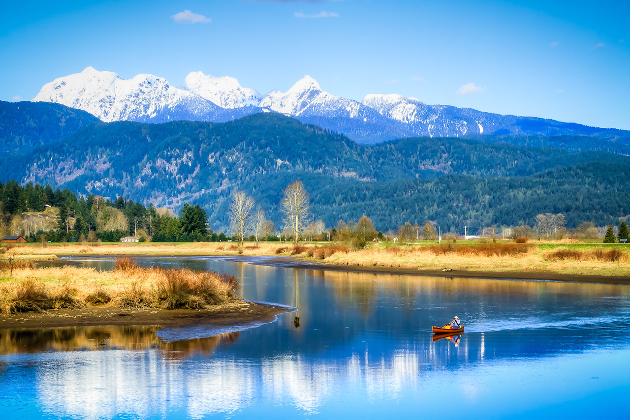 Canoeing on the Alouette River