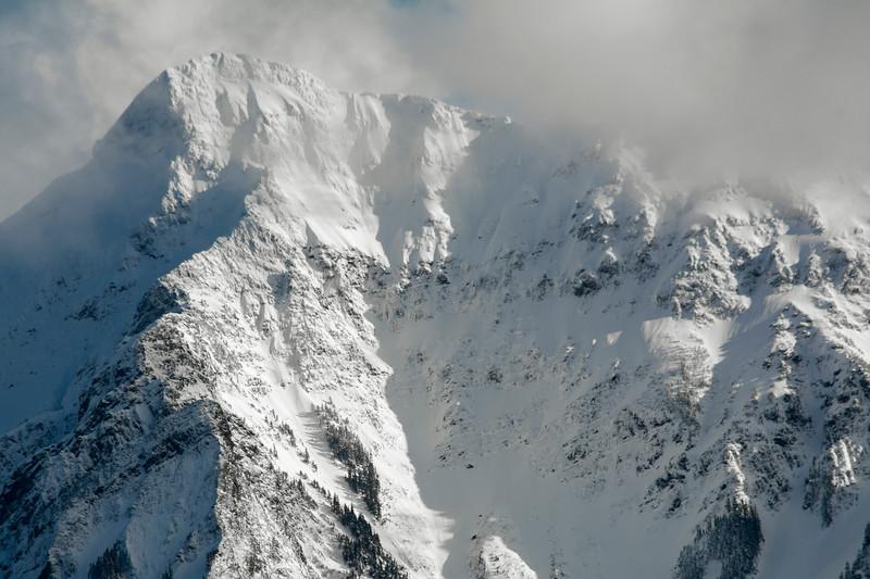 Snow covered Cheam Peak