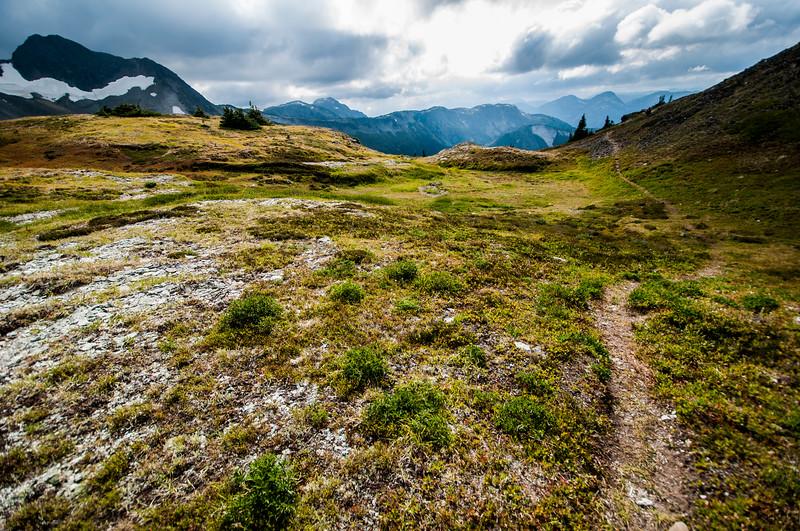 Pathway through the mountains