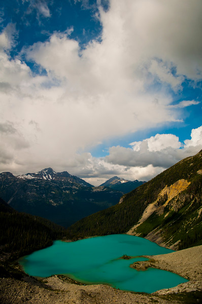 Clouds above Joffre Lakes