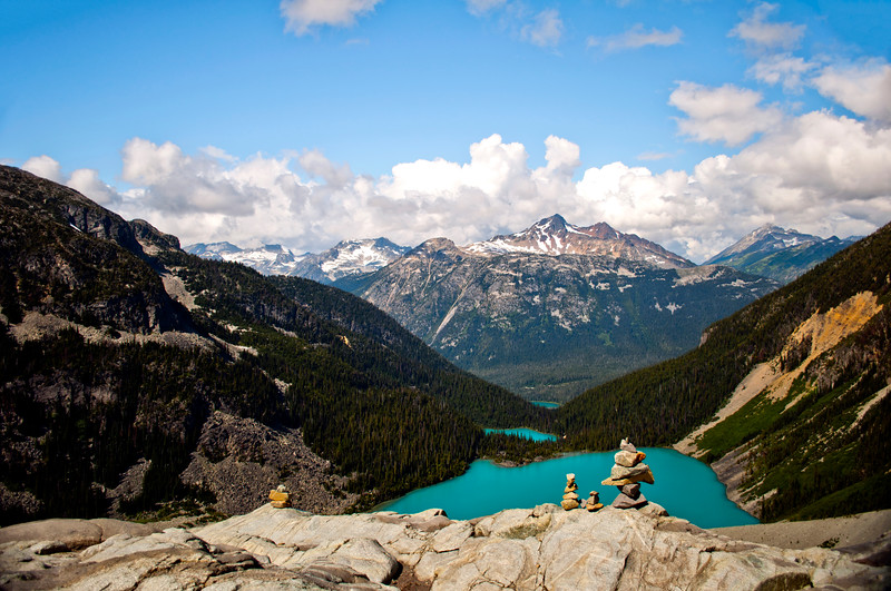 Joffre Lakes from up high