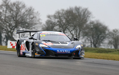 Black Bull Ecurie Ecosse McLaren 650S GT3 #79 driven by Alasdair McCaig / Rob Bell during the 2016 British GT media day held at Snetterton Circuit, Norwich, Norfolk on 15 March 2016
