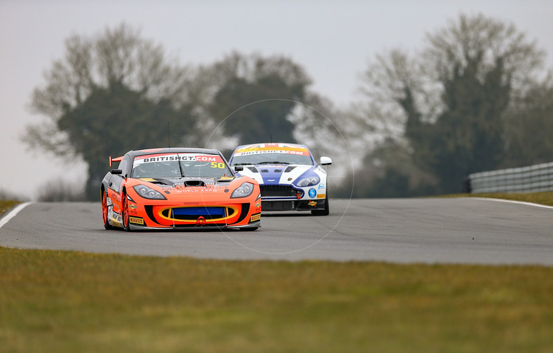 PMW Expo / Optimum Motorsport Ginetta G55 GT4 #50 driven by Graham Johnson / Mike Robinson during the 2016 British GT media day held at Snetterton Circuit, Norwich, Norfolk on 15 March 2016