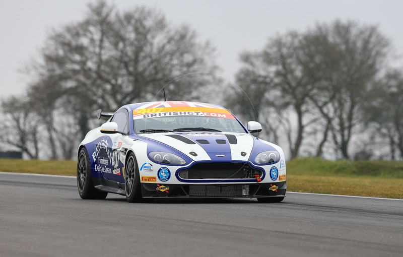 Beechdean AMR Aston Martin Vantage GT4 #407 driven by Jordan Albert / Jack Bartholomew during the 2016 British GT media day held at Snetterton Circuit, Norwich, Norfolk on 15 March 2016
