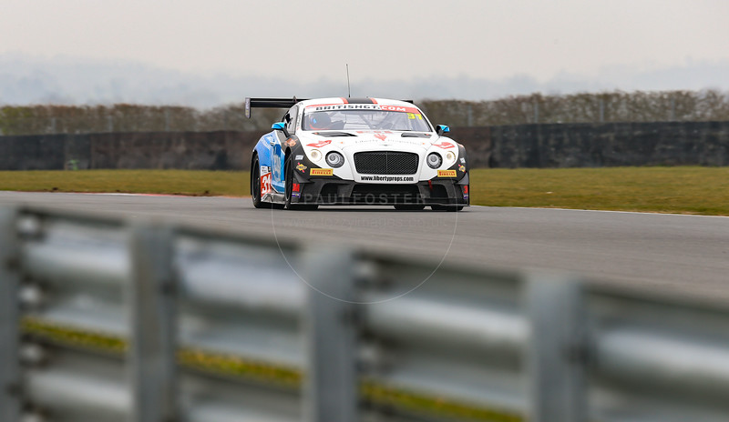 Team Parker Racing Bentley Continental GT3 #31 driven by Rick Parfitt / Seb Morris during the 2016 British GT media day held at Snetterton Circuit, Norwich, Norfolk on 15 March 2016