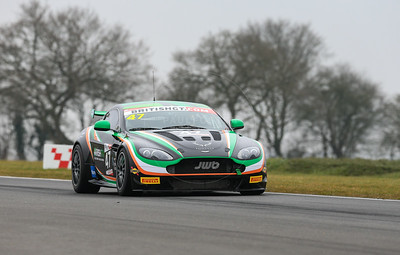 JW Bird Motorsport Aston Martin Vantage GT4 #47 driven by Kieran Griffin / Jake Giddings during the 2016 British GT media day held at Snetterton Circuit, Norwich, Norfolk on 15 March 2016