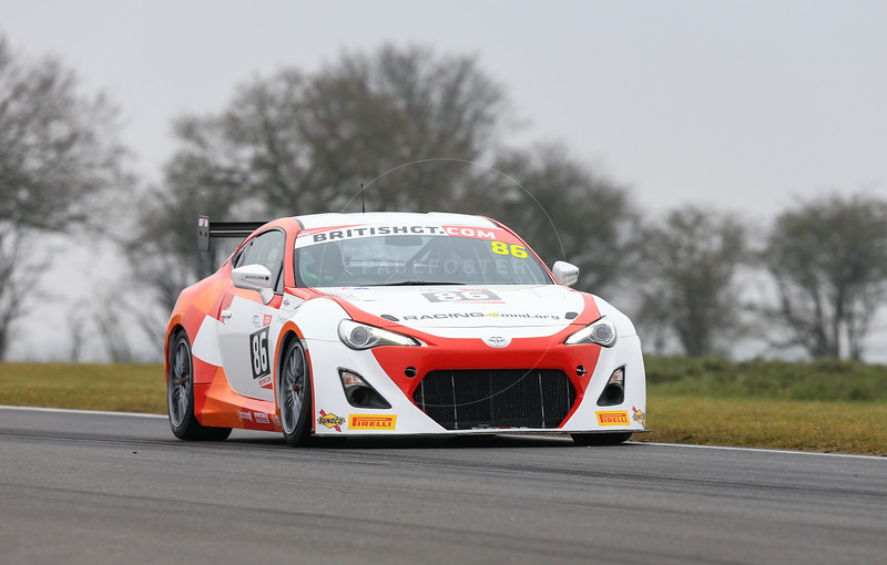GPRM Toyota GT86 #68 driven by Stefan Hodgetts / during the 2016 British GT media day held at Snetterton Circuit, Norwich, Norfolk on 15 March 2016