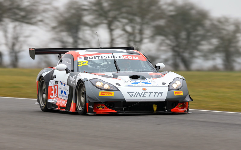 Tolman Motorsport Ginette G55 GT3 #32 driven by Ian Stinton / Mike Simpson during the 2016 British GT media day held at Snetterton Circuit, Norwich, Norfolk on 15 March 2016