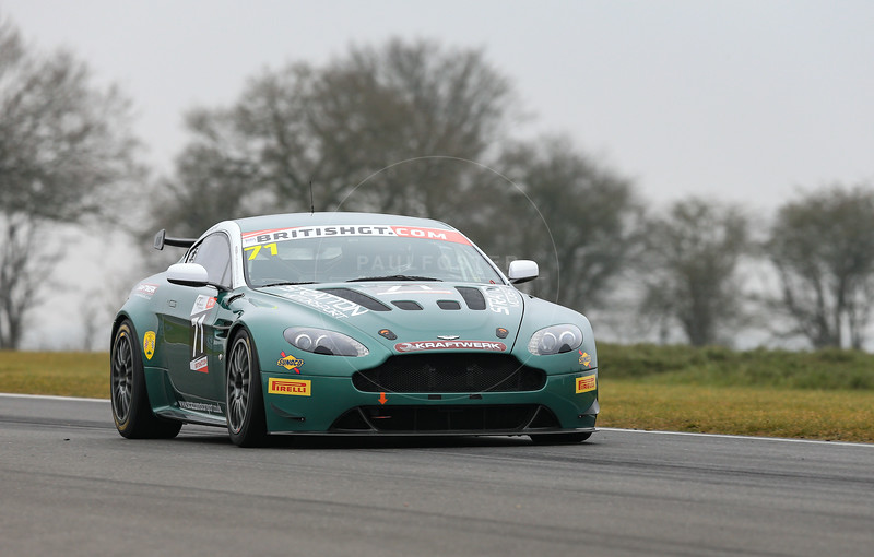Stratton Motorsport Aston Martin Vantage GT4 #71driven by David Tinn / Robin Marriot during the 2016 British GT media day held at Snetterton Circuit, Norwich, Norfolk on 15 March 2016