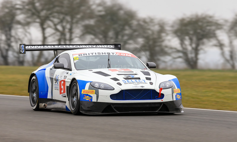 PFL Motorsport Aston Martin Vantage GT3 #5 driven by Peter Littler / Jody Fannin during the 2016 British GT media day held at Snetterton Circuit, Norwich, Norfolk on 15 March 2016