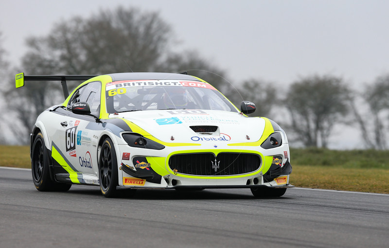 Ebor GT Maserati GT MC GT4 #60 driven by Marcus Hogarth / Abbie Eaton during the 2016 British GT media day held at Snetterton Circuit, Norwich, Norfolk on 15 March 2016