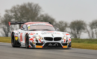AMD Tuning.com BMW Z4 GT3 #7 driven by Lee Mowle / Joe Osborne during the 2016 British GT media day held at Snetterton Circuit, Norwich, Norfolk on 15 March 2016