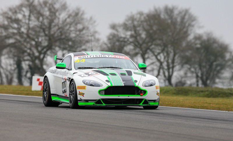 Generation AMR SuperRacing Aston Martin Vantage GT4 #44 driven by James Holder / Matthew George during the 2016 British GT media day held at Snetterton Circuit, Norwich, Norfolk on 15 March 2016