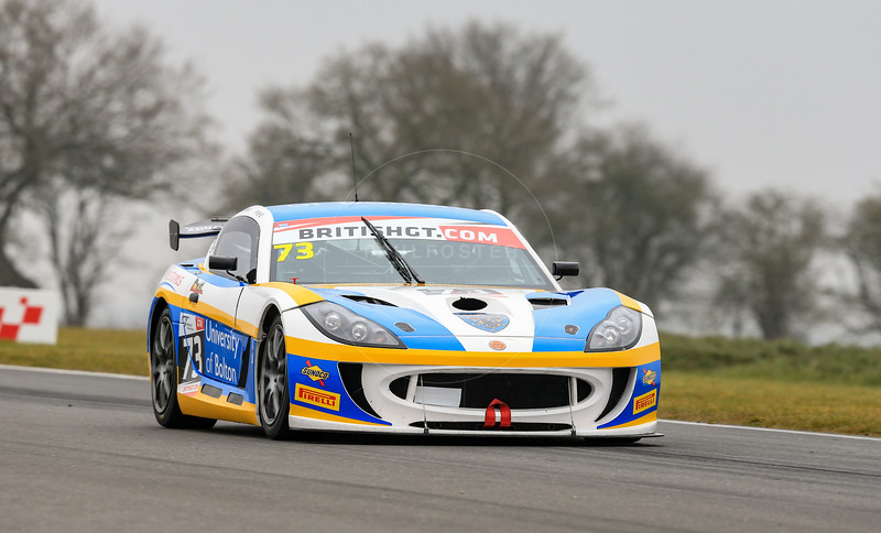 Century Motorsport Ginetta G55 GT4 #73 driven by Anna Walewska / Nathan Freke during the 2016 British GT media day held at Snetterton Circuit, Norwich, Norfolk on 15 March 2016
