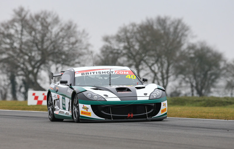 Century Motorsport Ginetta G55 GT4 #40 driven by Sean Byrne / Aleksander Schjerpen during the 2016 British GT media day held at Snetterton Circuit, Norwich, Norfolk on 15 March 2016