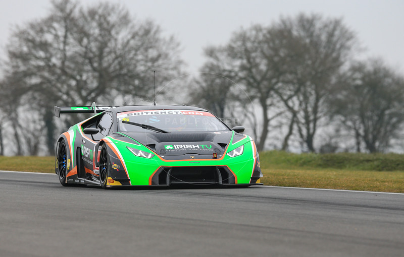 Barwell Motorsport Lamborghini Huracan GT3 #6 driven by Liam Griffin / Fabio Bambini / Alexander Sims during the 2016 British GT media day held at Snetterton Circuit, Norwich, Norfolk on 15 March 2016