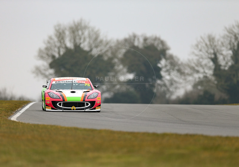 RCIB Insurance Racing Ginetta G55 GT4 #75 driven by Robert Bearable / Wilson Thompson during the 2016 British GT media day held at Snetterton Circuit, Norwich, Norfolk on 15 March 2016