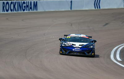 Black Bull Ecurie Ecosse McLaren 570S GT4 #59 driven by Sandy Mitchell / Ciaran Haggerty during the race for round 2 of the British GT championship held at Rockingham Motor Speedway, Corby, Northamptonshire from April 30th - May 1st 2016