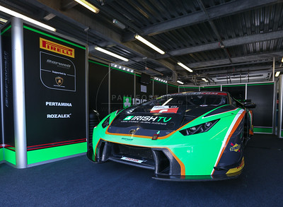 Barwell Motorsport Lamborghini Huracan GT3 #6 driven by Liam Griffin / Adam Carroll during the race for round 2 of the British GT championship held at Rockingham Motor Speedway, Corby, Northamptonshire from April 30th - May 1st 2016