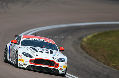 Generation AMR MacMillan Racing Aston Martin Vantage GT4 #42 driven by Matthew Graham / Jack Mitchell during the race for round 2 of the British GT championship held at Rockingham Motor Speedway, Corby, Northamptonshire from April 30th - May 1st 2016
