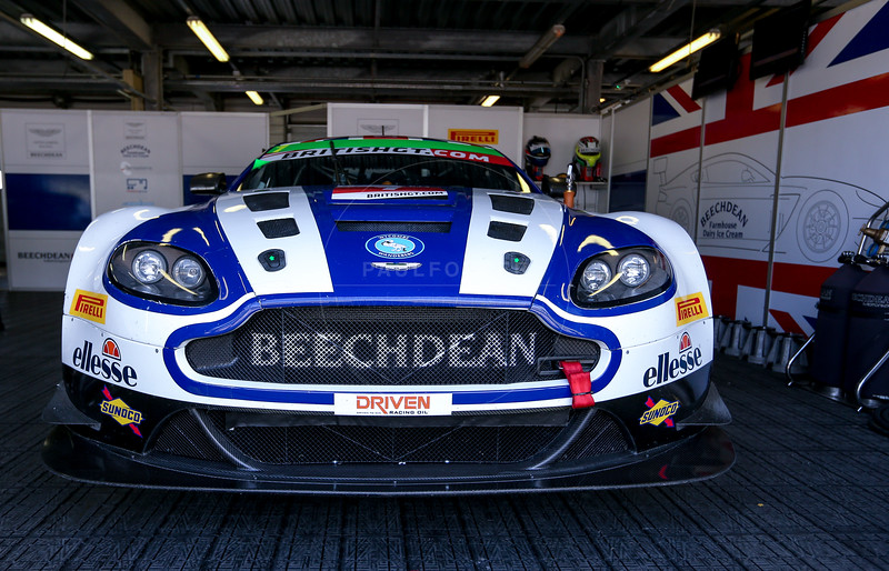 Beechdean AMR Aston MartinVantage GT3 #1 driven by Andrew Howard / Ross Gunn  during the race for round 2 of the British GT championship held at Rockingham Motor Speedway, Corby, Northamptonshire from April 30th - May 1st 2016