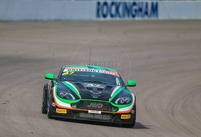 JW Bird Motorsport Aston Martin Vantage GT4 #47 driven by Kieran Griffin / Jake Giddings during the race for round 2 of the British GT championship held at Rockingham Motor Speedway, Corby, Northamptonshire from April 30th - May 1st 2016