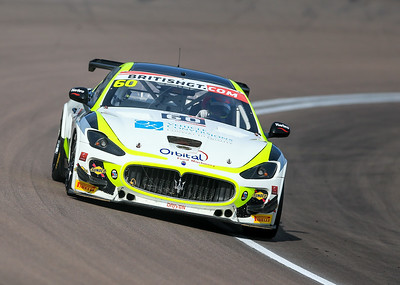 Ebor GT Maserati GT MC GT4 #60 driven by Marcus Hogarth / Abbie Eaton during the race for round 2 of the British GT championship held at Rockingham Motor Speedway, Corby, Northamptonshire from April 30th - May 1st 2016
