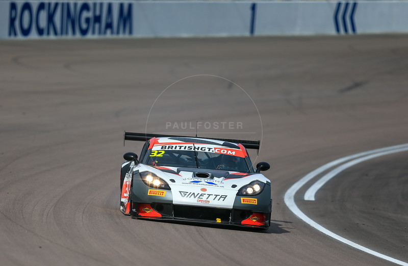 Tolman Motorsport Ginette G55 GT3 #32 driven by Ian Stinton / Mike Simpson during the race for round 2 of the British GT championship held at Rockingham Motor Speedway, Corby, Northamptonshire from April 30th - May 1st 2016