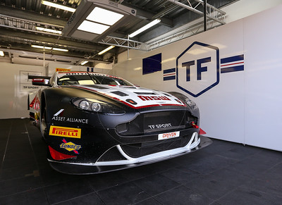 TF Sport Aston Martin Vantage GT3 #17 driven by Derek Johnston / Jonny Adam during the race for round 2 of the British GT championship held at Rockingham Motor Speedway, Corby, Northamptonshire from April 30th - May 1st 2016