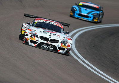 AMD Tuning.com BMW Z4 GT3 #7 driven by Lee Mowle / Joe Osborne during the race for round 2 of the British GT championship held at Rockingham Motor Speedway, Corby, Northamptonshire from April 30th - May 1st 2016