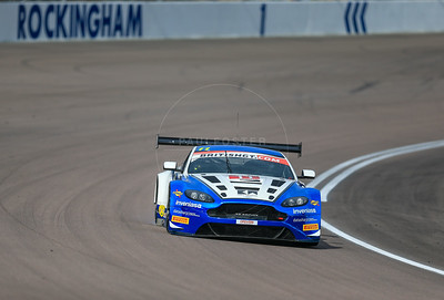 TF Sport Aston Martin Vantage GT3 #11 driven by Mark Farmer / Jon Barnes during the race for round 2 of the British GT championship held at Rockingham Motor Speedway, Corby, Northamptonshire from April 30th - May 1st 2016